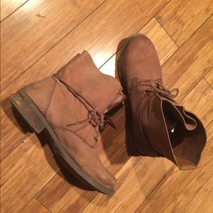 Leather Lucky Brand Ankle Boots